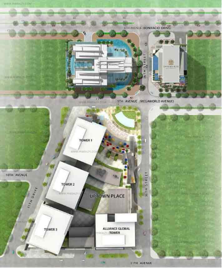 Uptown Ritz Residence - Building Plan