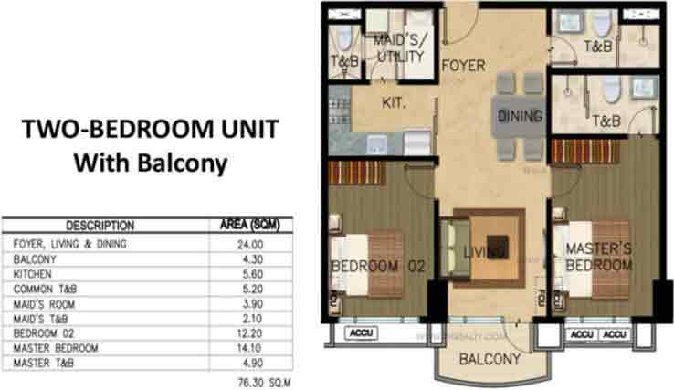 Monarch Parksuites - Unit 2 - Bedroom
