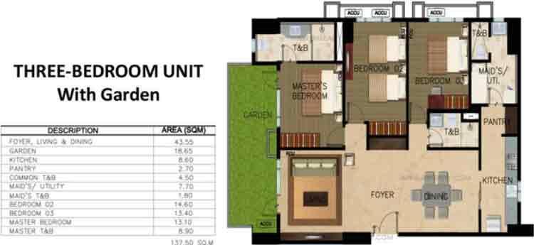 Monarch Parksuites - Unit 3 - Bedroom