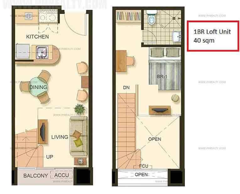 Oriental Place - one bedroom loft type unit