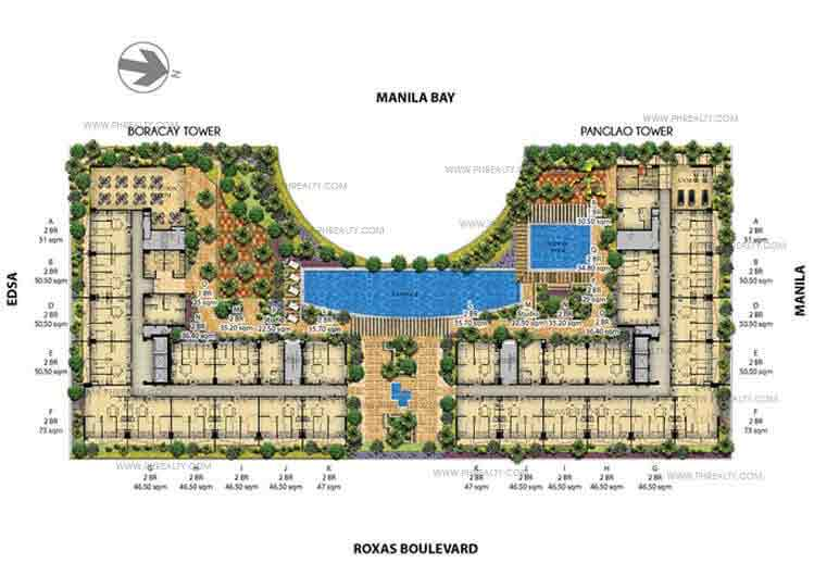 Palm Beach Villas - Amenity Foor Plan