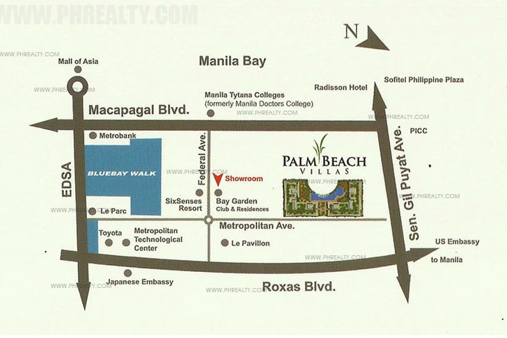 Palm Beach Villas - Location and Vicinity