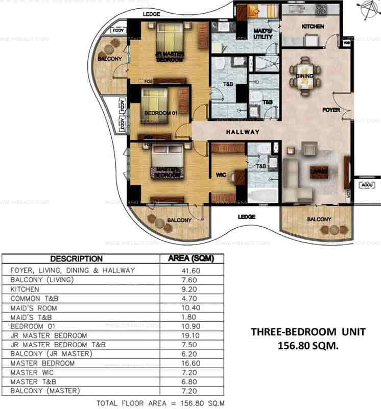 Clairemont Hills - Three Bedroom Units
