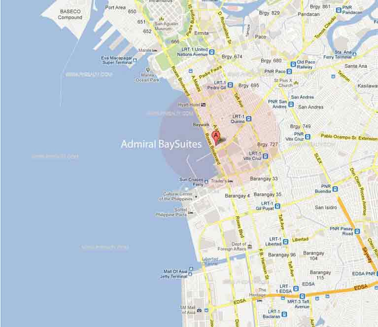 Admiral Baysuites - Location & Vicinity