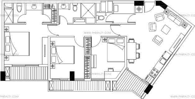 Majorca Residences - Three Bedroom Plan A