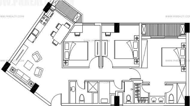 Majorca Residences - Three Bedroom Plan B