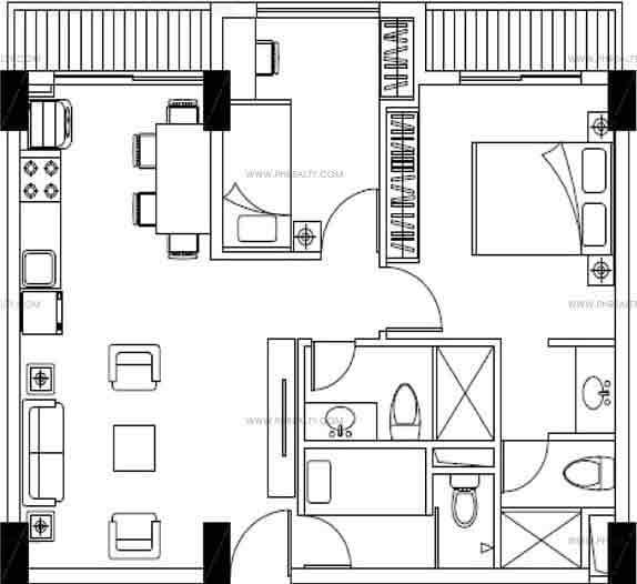 Aurora Escalades - Two Bedroom Plan A