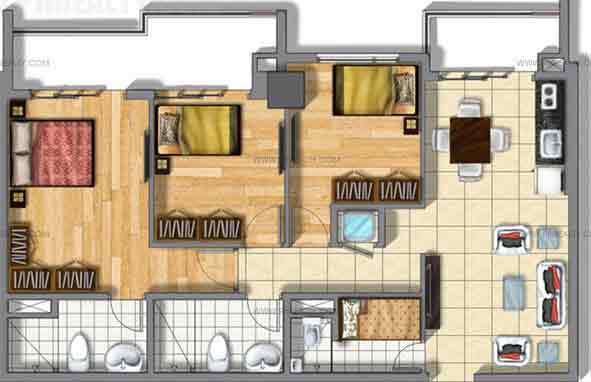 Seville Residences - Three Bedroom