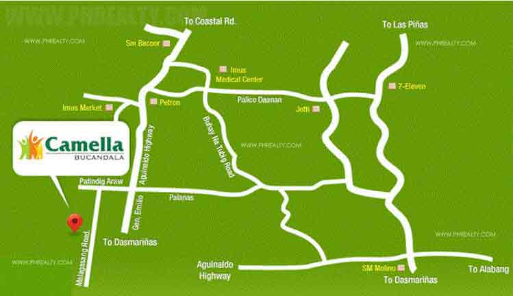 Camella Bucandala - Location & Vicinity