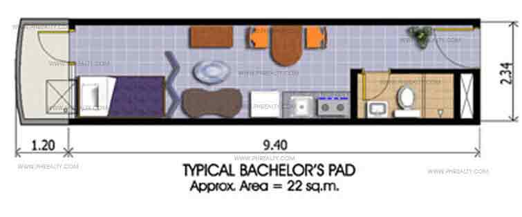 Makati Executive Tower III - Bachelors Pad