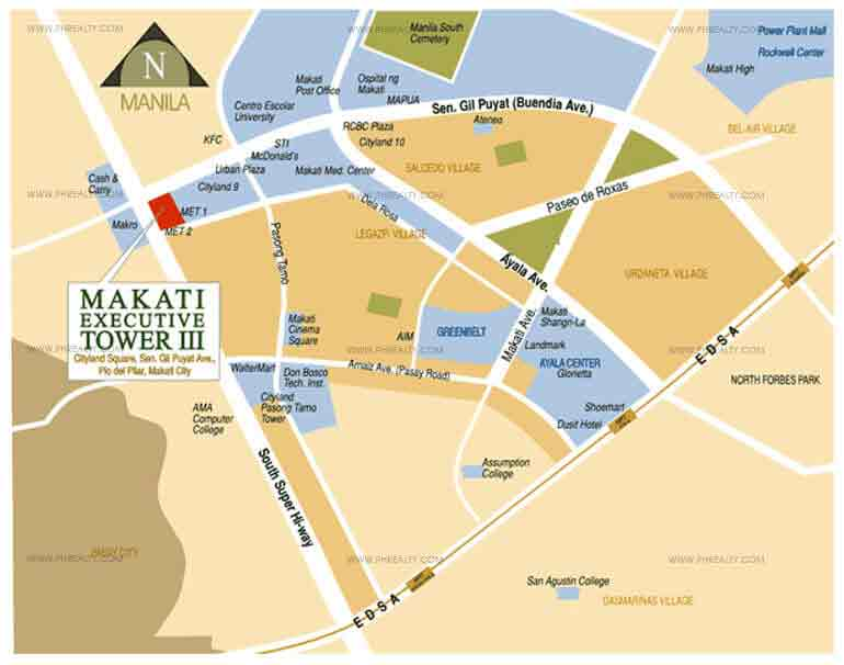 Makati Executive Tower III - Location & Vicinity