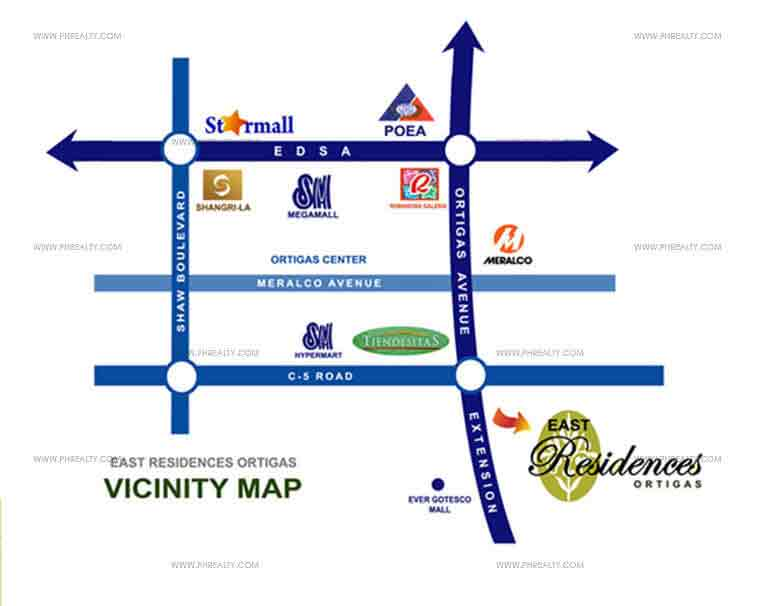 East Residences - Location & Vicinity