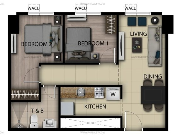 San Antonio Residences - 2 Bedroom Loft Unit