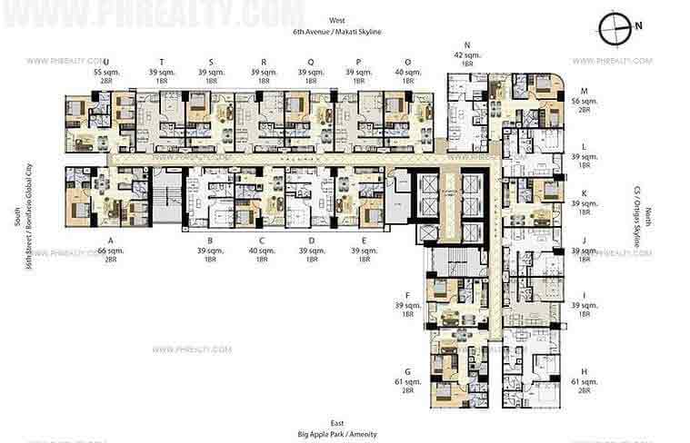 Times Square West - 17th,29th & 41st Floor plan