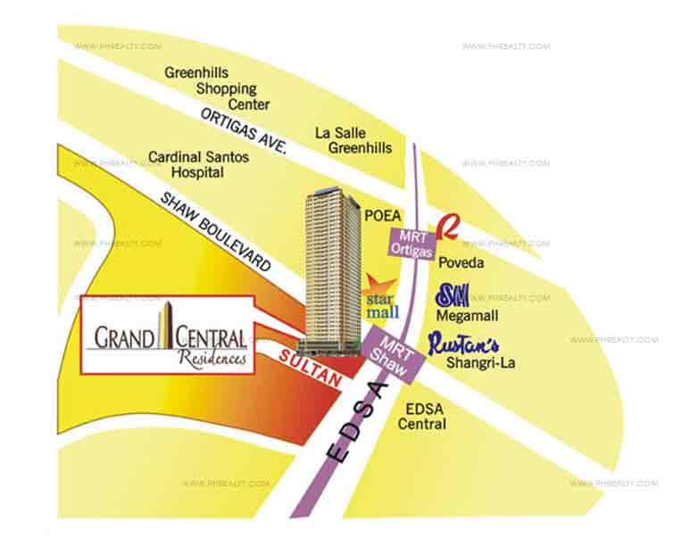 Grand Central Residences - Location & Vicinity