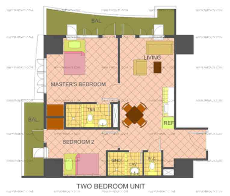 The Manila Residences Tower II - 2 Bedrooms