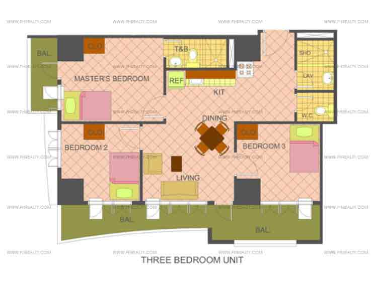 The Manila Residences Tower II - 3 Bedrooms