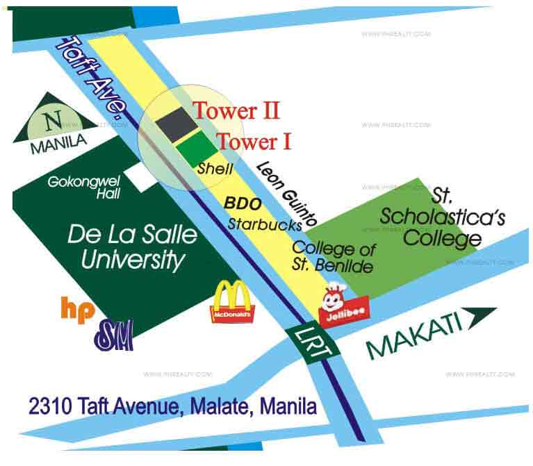 The Manila Residences Tower II - Location & Vicinity
