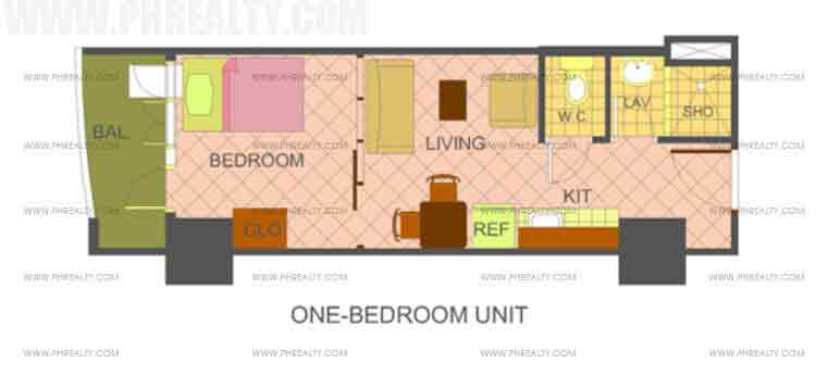 The Manila Residences Tower II - 1 Bedroom Unit