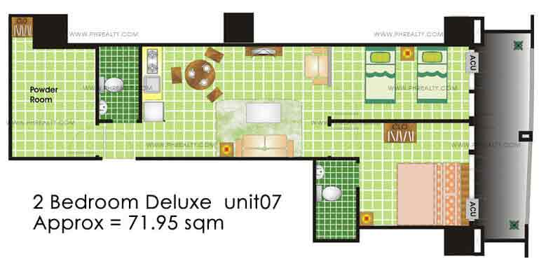 Grand Emerald Tower - 2 Bedroom Deluxe