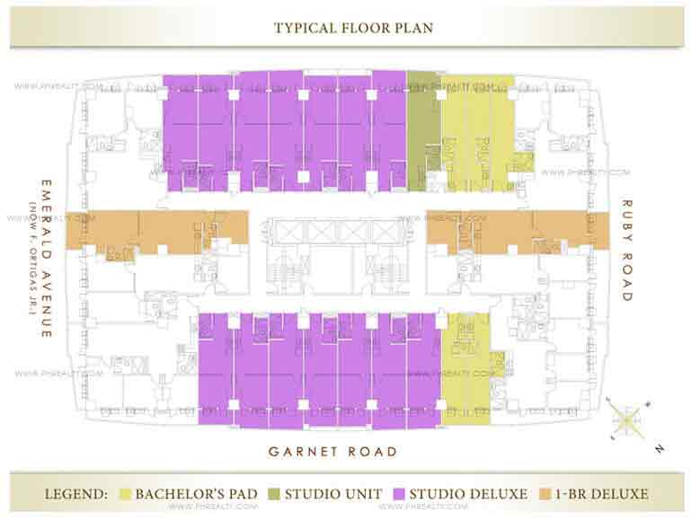 Grand Emerald Tower - Typical Floor Plan