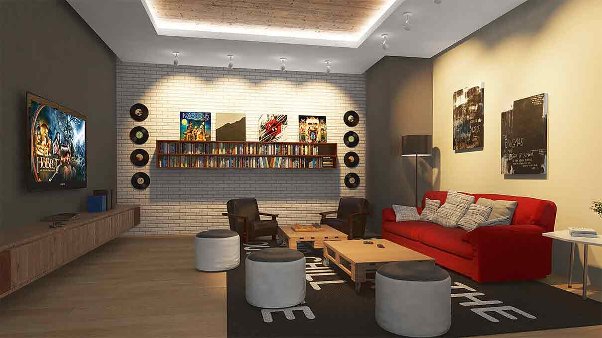 Aurora Escalades - Entertainment Room