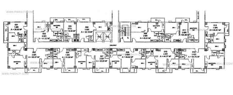 Mandaluyong Executive Mansion III - Front Building Floor Plan
