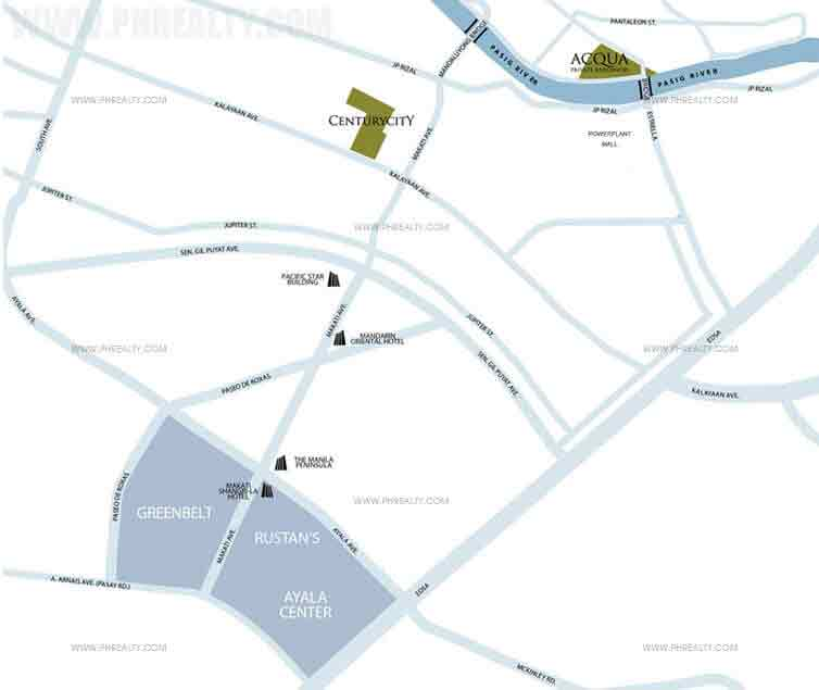 Acqua Private Residences - Location & Vicinity