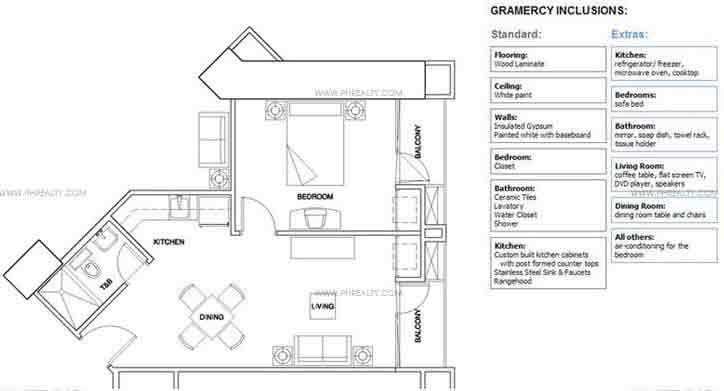 Gramercy - One Bedroom