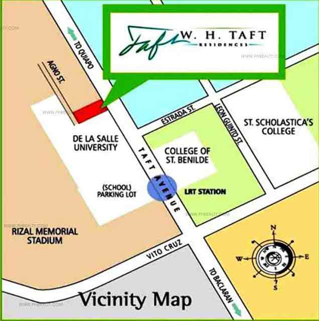 W. H. Taft Residences - Location Map