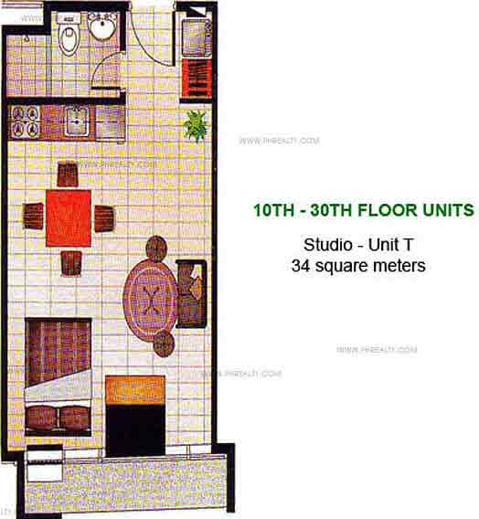 W. H. Taft Residences - Studio - Unit T