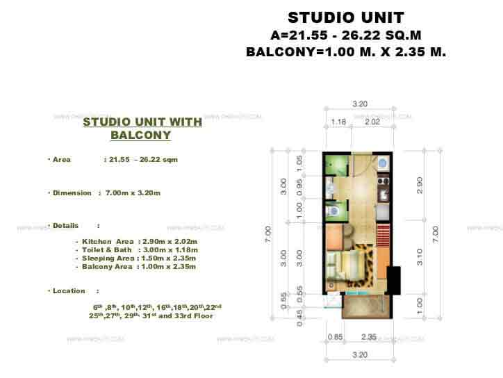 Congressional Town Center - Studio Unit
