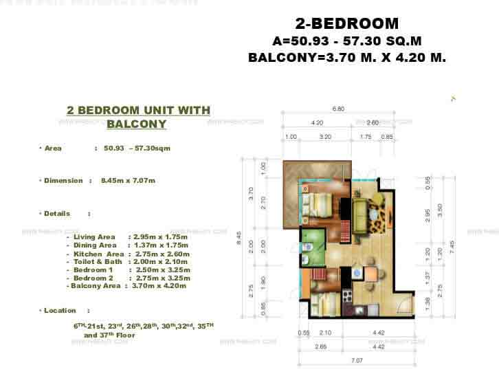 Congressional Town Center - 2 Bedroom