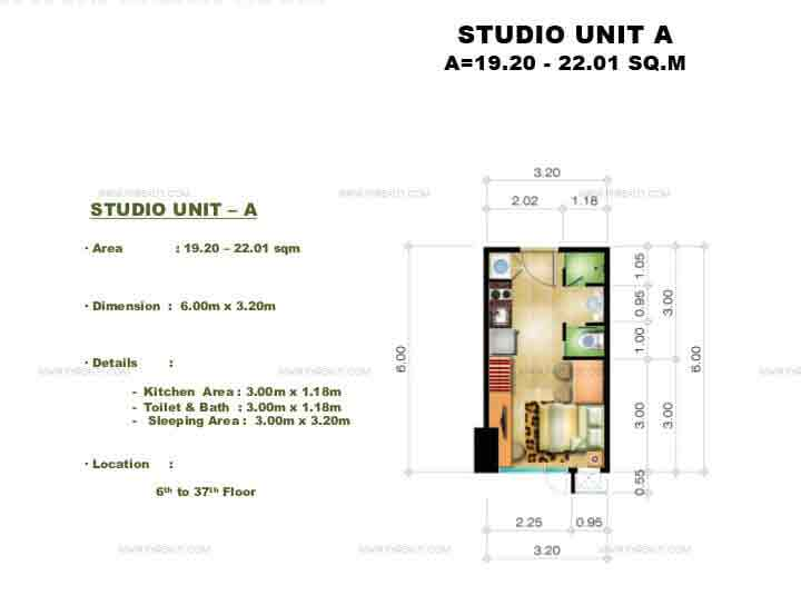 Congressional Town Center - Studio Unit A