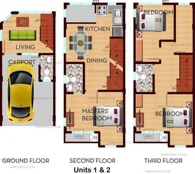 Demonteverde Townhomes II - Outer Units Floor Plan