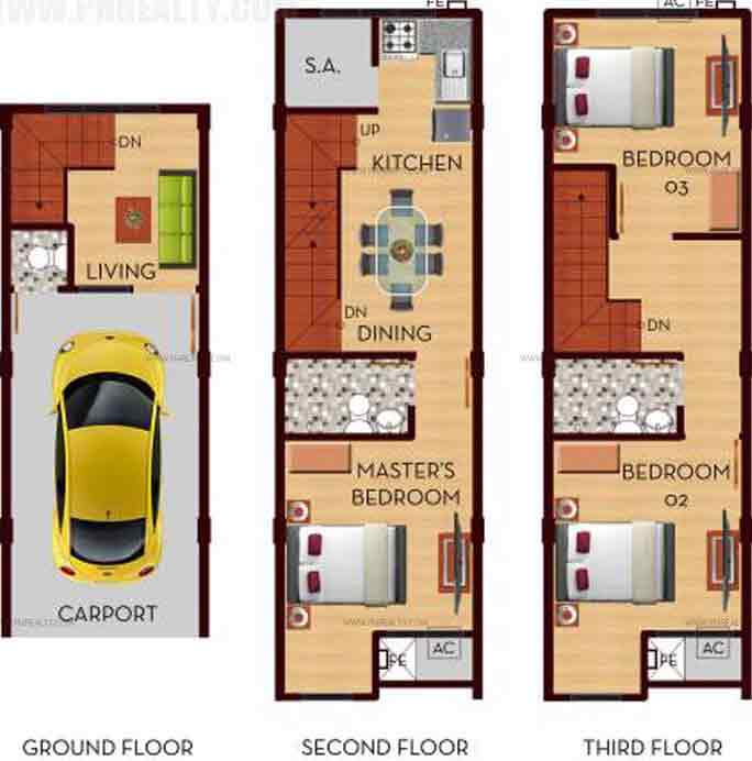 Revellin Townhomes II - Unit 1, 2, 3, 4 And 6 Plan