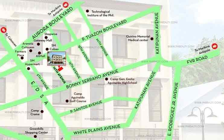 10th Avenue Townhomes - Location & Vicinity