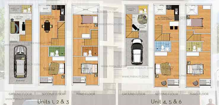 10th Avenue Townhomes - Unit Plans