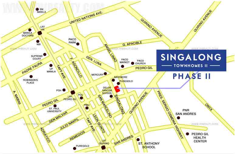 Singalong Townhomes II - Location & Vicinity