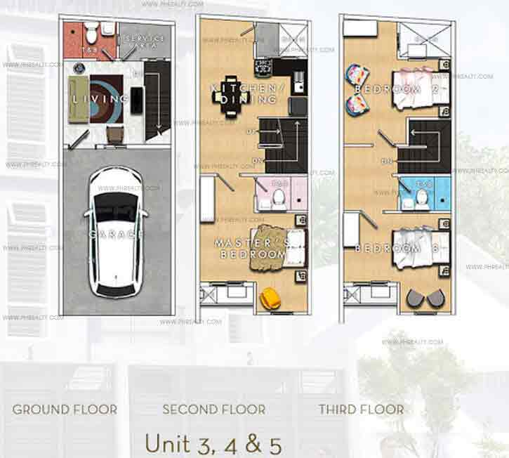 J. Fernandez Townhomes - Unit Plans