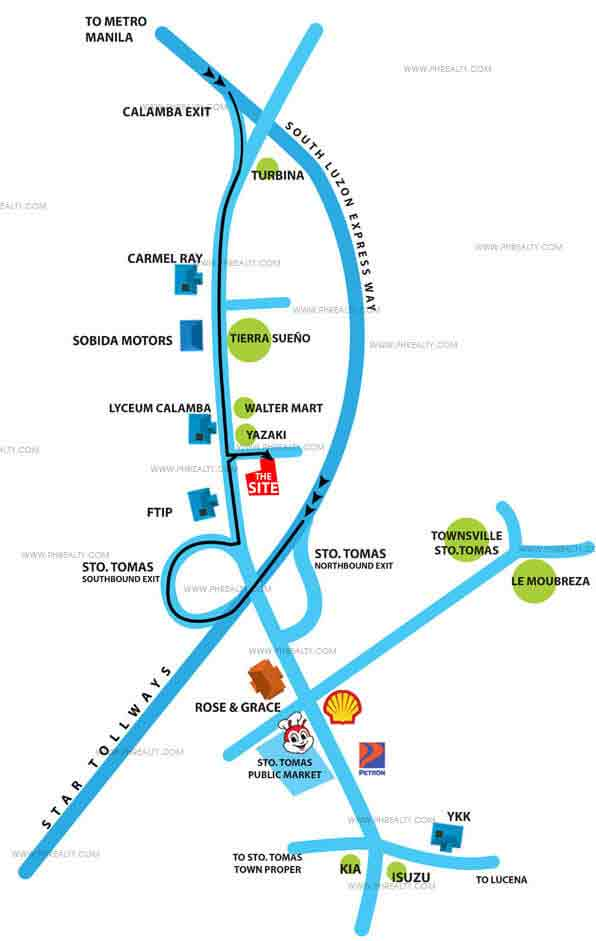Calamba Park Residences - Location & Vicinity