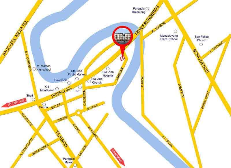 Santa Ana Townhomes III - Location Map