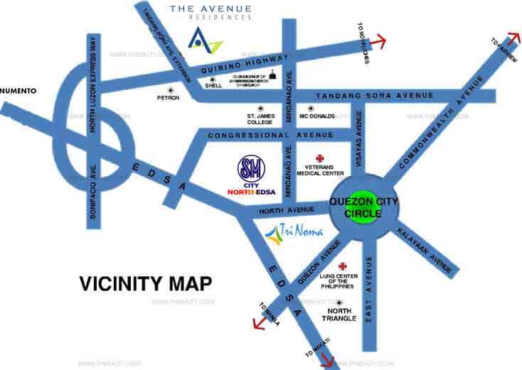 The Avenue Residences - Location & Vicinity