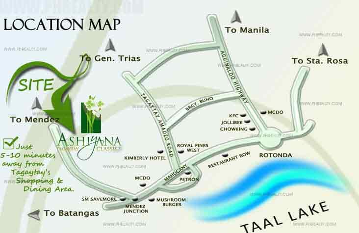 Ashiyana Tagaytay Classics - Location & Vicinity