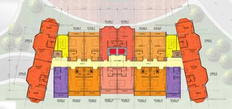 Alpine Village - Typical 2 - 7th Floor Plan