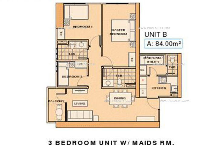 La Nobleza Terrazas - Unit B 3 Bedroom with Maids RM