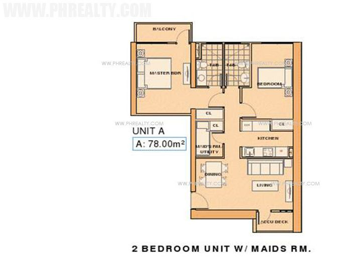 La Nobleza Terrazas - Unit A 2 Bedroom with Maids RM