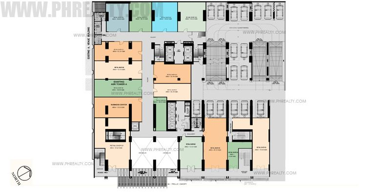 Antel Spa Suites - 2nd Floor Plan