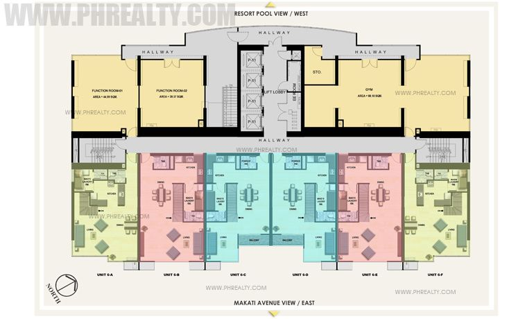 Antel Spa Suites - 6th Floor Plan
