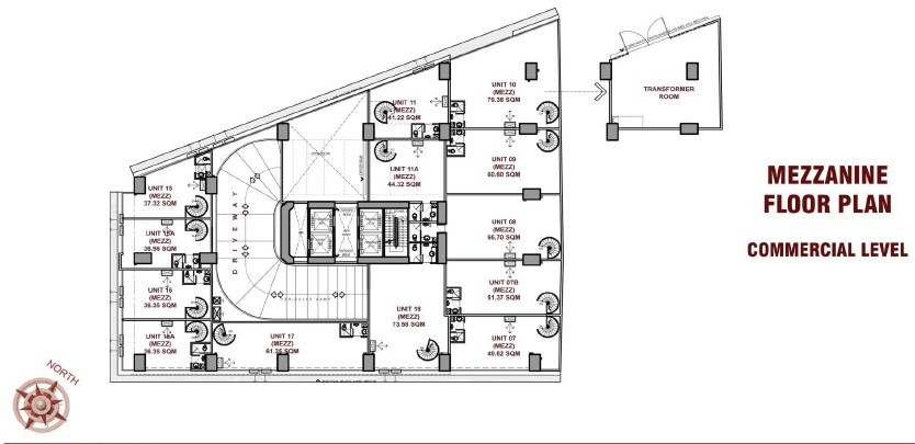 CBY Tower - Mezzanine Floor Plan